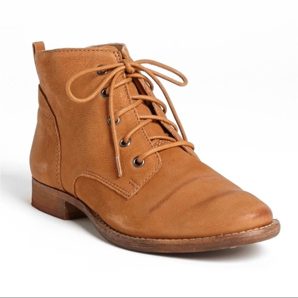 e47f11d7ac69b Sam Edelman  Mare  Lace-Up Ankle Boot in Saddle. M 5c4ba674baebf6bb1a6d7d8a